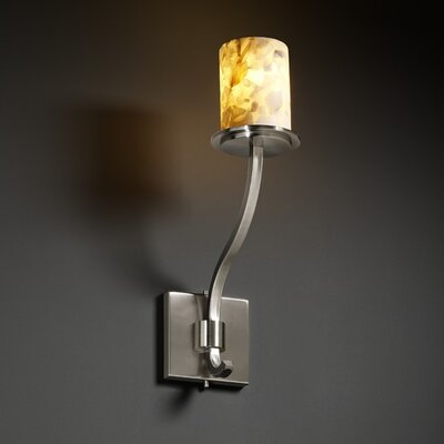 Justice Design Group Alabaster Rocks Sonoma 1 Light Wall Sconce