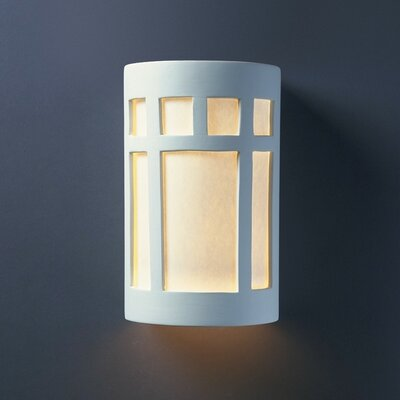 Justice Design Group Ambiance Prairie 1 Light Outdoor Wall Sconce