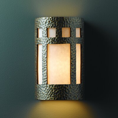 Justice Design Group Ambiance Open Top and Bottom Prairie 1 Light Outdoor Wall Sconce