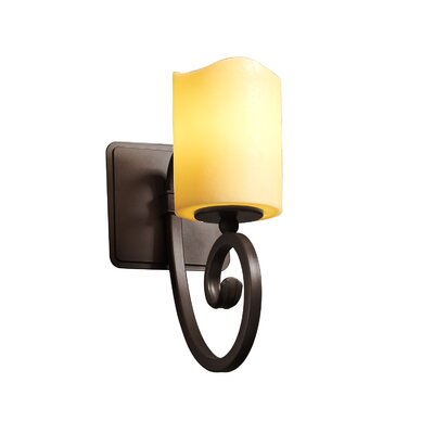 Justice Design Group Candlearia Victoria 1 Light Wall Sconce