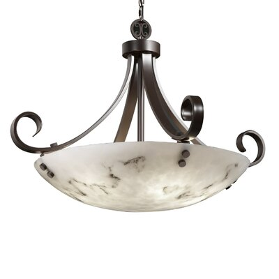 Justice Design Group LumenAria 6 Light Bowl Pendant