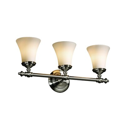 Justice Design Group Fusion Tradition 3 Light Bath Vanity Light