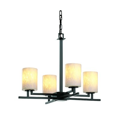 Justice Design Group Fusion Aero 4 Light Chandelier
