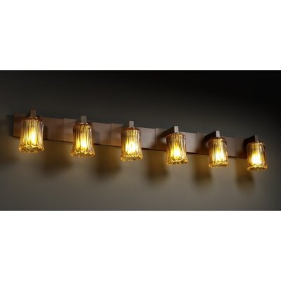Justice Design Group Veneto Luce Modular 6 Light Bath Vanity Light