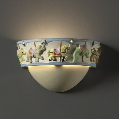 Justice Design Group Kid's Room 1 Light Wall Sconce
