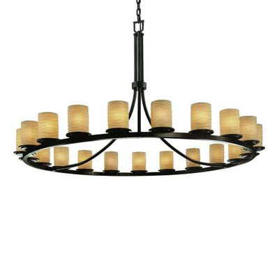 Justice Design Group Limoges Dakota 21 Light Chandelier with Additional Chain
