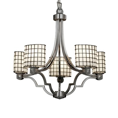 Wire Glass Argyle 5 Light Chandelier