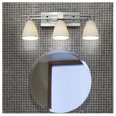 Justice Design Group Aero Limoges 3 Light Bath Vanity Light