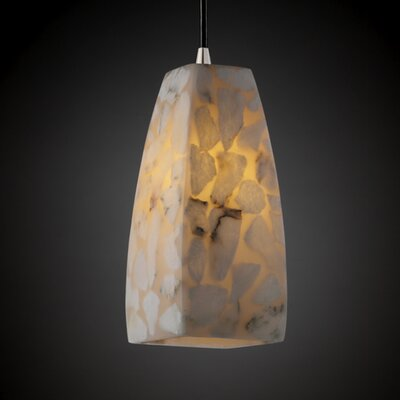 Justice Design Group Alabaster Rocks 1 Light Pendant