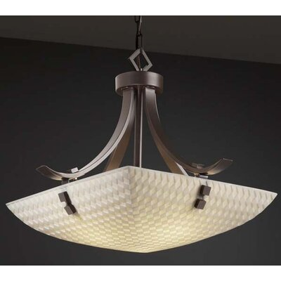 Porcelina 3 Light Pendant Bowl