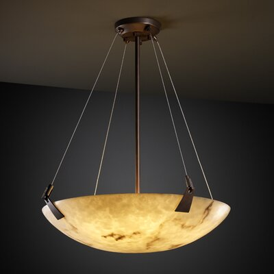 Justice Design Group LumenAria 6 Light Inverted Pendant
