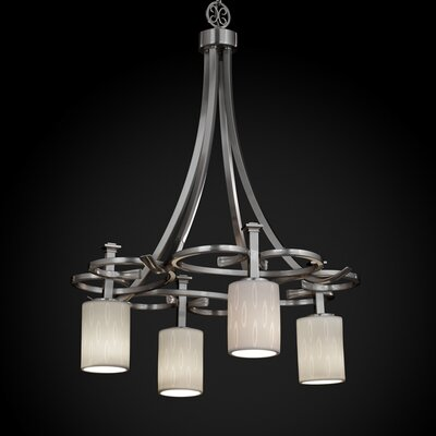 Justice Design Group Limoges Arcadia 4 Light Downlight Chandelier