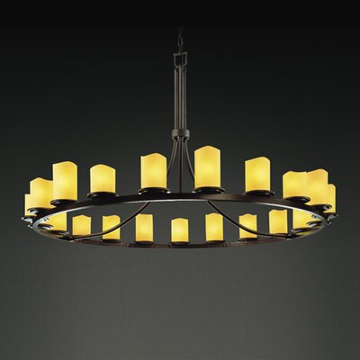 CandleAria Dakota 21 Light Chandelier with Additional Chain