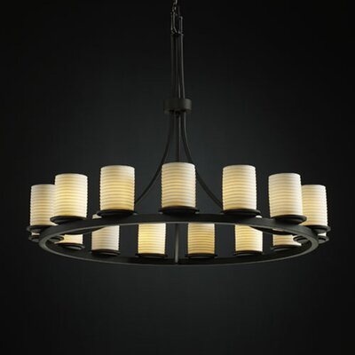 Justice Design Group Limoges Dakota 15 Light Chandelier