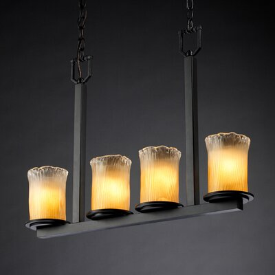 Justice Design Group Veneto Luce Dakota 4 Light Chandelier
