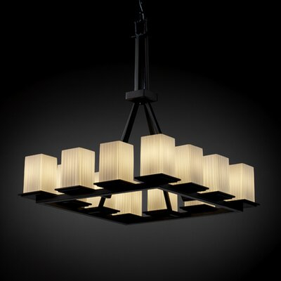 Justice Design Group Fusion Montana 12 Light Chandelier with Additional Chain