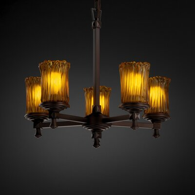 Justice Design Group Deco Veneto Luce 5 Light Chandelier