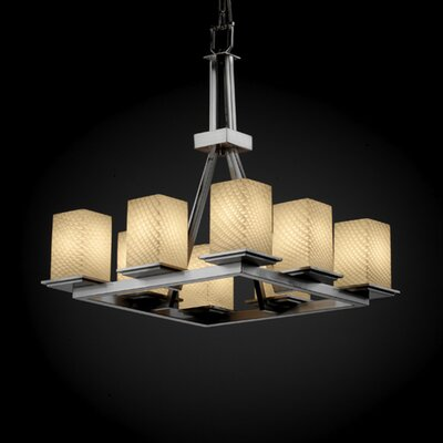 Justice Design Group Montana Fusion 8 Light Chandelier