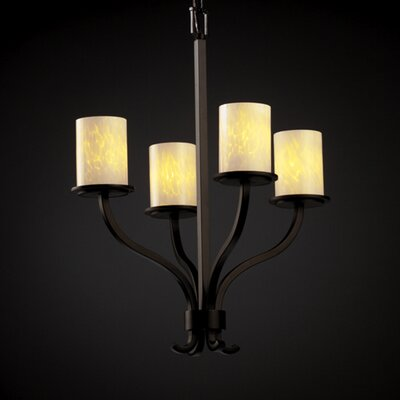 Justice Design Group Sonoma Fusion 4 Light Chandelier