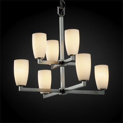 Justice Design Group Modular Fusion 8 Light Chandelier