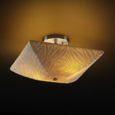 Justice Design Group Porcelina Ring 2 Light Semi Flush Mount