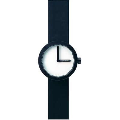 Issey Miyake Twelve Ladies Watch with Black Case and White Dial