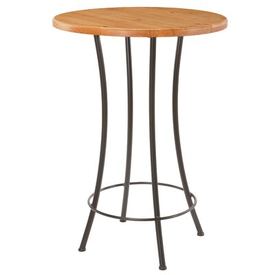 "Stone County Ironworks Bistro 36"" Bar Table in Honey Pine"