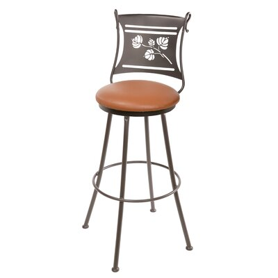 "Stone County Ironworks Aspen 25"" Swivel Bar Stool with Cushion"