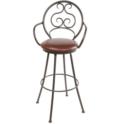 "Stone County Ironworks Ranfurlie 30"" Swivel Bar Stool with Cushion"