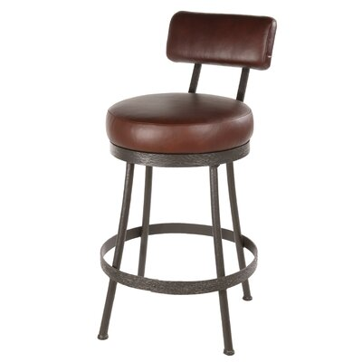 "Stone County Ironworks Cedarvale 25"" Swivel Bar Stool with Cushion"