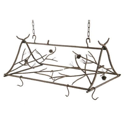 Stone County Ironworks Pine Pot Rack