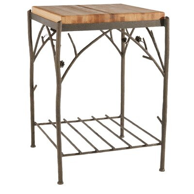Stone County Ironworks Prep Table with Butcher Block Top