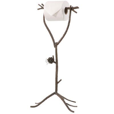 Stone County Ironworks Pine Standing Toilet Tissue Holder