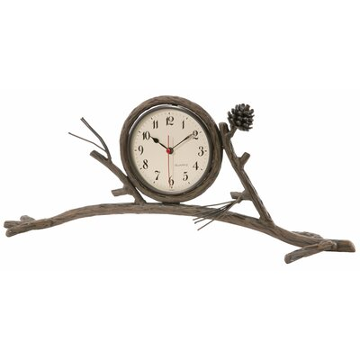 Stone County Ironworks Pine Mantle Clock