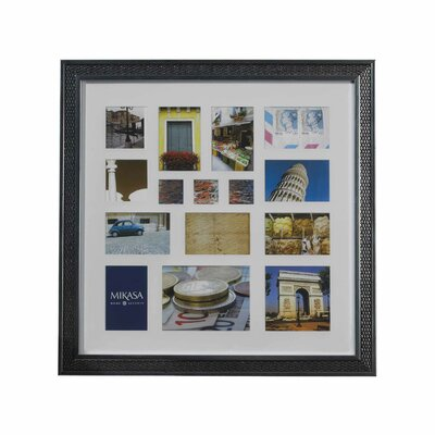 Mikasa 15 Opening Weave Wall Collage Trip Picture Frame