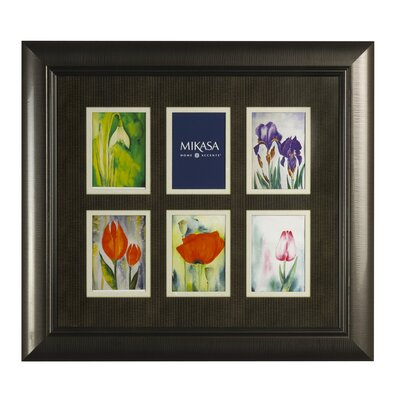 Mikasa 6 Opening Vertical Ribbon Collage Trip Picture Frame