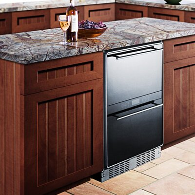 Summit Appliance Dual Zone Thermoelectric Built-In Wine Refrigerator