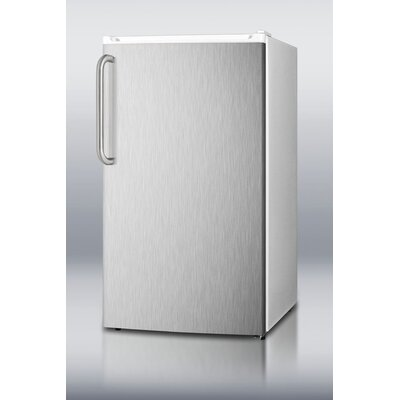 Summit Appliance Refrigerator Freezer with Crisper Cover Glass Type