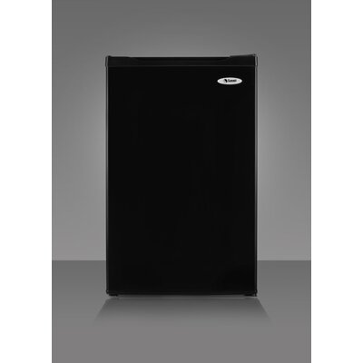 "Summit Appliance 34.25"" x 19.36"" Refrigerator Freezer in Black"
