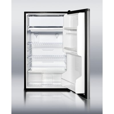 "Summit Appliance 33.5"" x 18.75"" Refrigerator Freezer with Shelf Wire Type in Black"