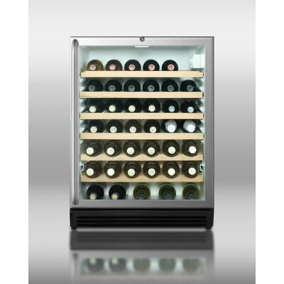 Summit Appliance Wine Cellar with Towel Bar Handle in Black
