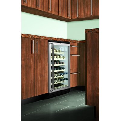 Summit Appliance Wine Cellar with Wooden Shelves in Black
