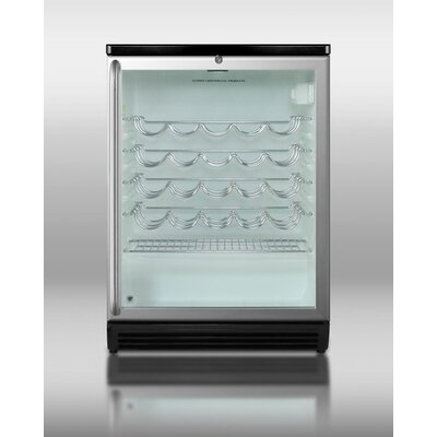 Summit Appliance Wine Cellar with Double Pane Tempered Glass Door in Black