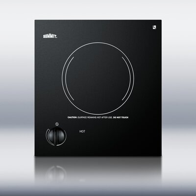Summit Appliance One Burner Electric Cooktop in Black