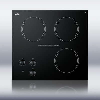 Summit Appliance Three Burner Electric Cooktop in Black
