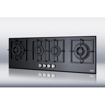 Summit Appliance 4-Burner Island Gas-on-Glass Cooktop