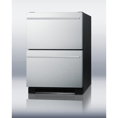 Summit Appliance Two Drawer All-Refrigerator for Built-in Use Auto Defrost
