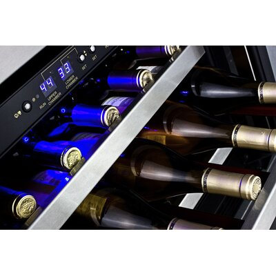 Summit Appliance 46 Bottle Dual Zone Thermoelectric Built-In Wine Refrigerator