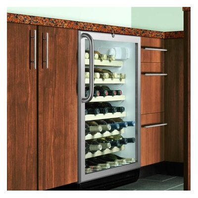 Wine Cellar with Adjustable Thermostat in Black