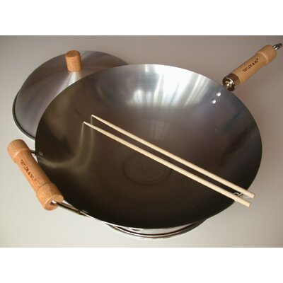 "Taylor & Ng 4 Piece 14"" Round Bottom Wok Set"